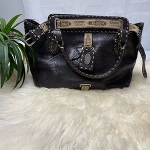 EUC FENDI VILLA SELLERIA N49-24-16894 LEATHER BAG